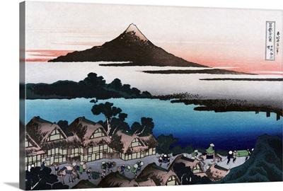 View Of A Village Near Mount Fuji In Japan