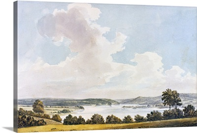 View To the North From the Lawn At Mount Vernon, 1796