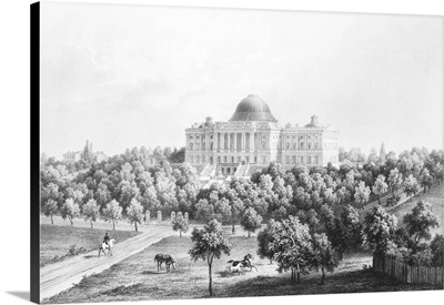 West View Of the United States Capitol, 1848