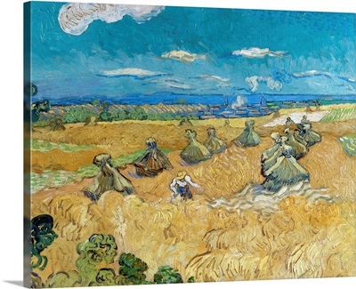Wheat Fields With Reaper, 1888