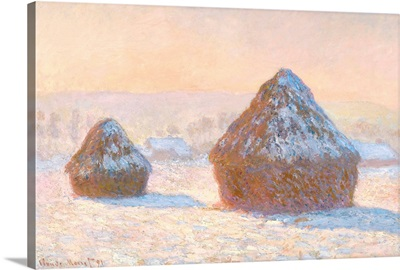 Wheatstacks, Snow Effect, Morning, 1891