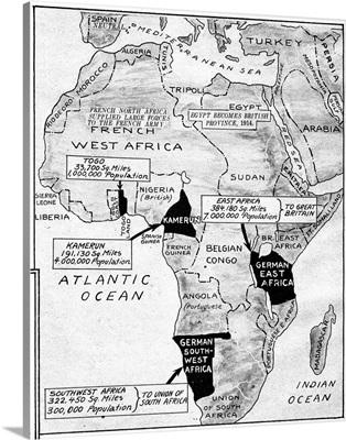 World War I, Map, c1919