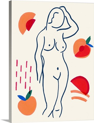 Woman and Peaches