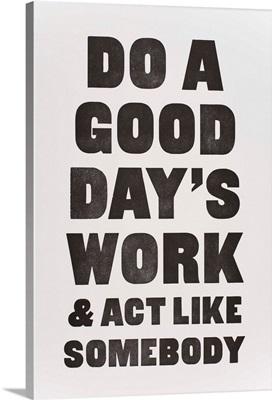 Act Like Somebody