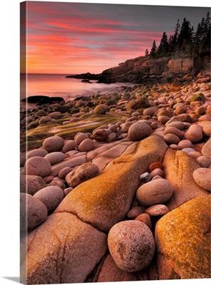 Rocky Coast At Dawn
