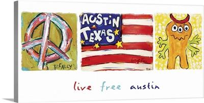 Live Free Austin Panorama