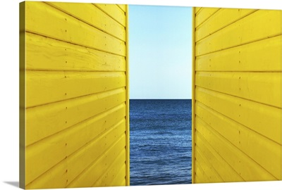 2 Yellow Beach Huts