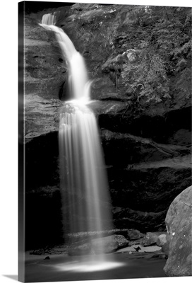 A long waterfall