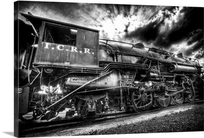 An old locomotive engine