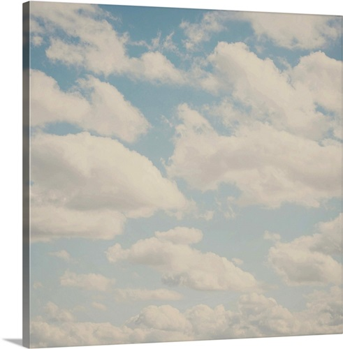 Beautiful blue skies and white fluffy clouds Wall Art, Canvas Prints ...