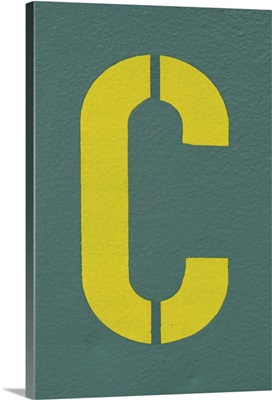 Capital Letter C on Wall