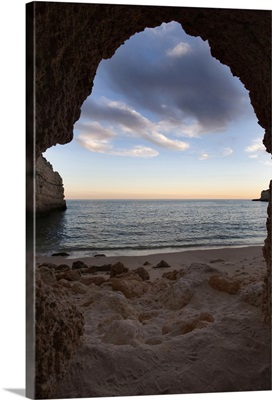Cave on the beach, town of Porches, municipality of Lagoa,  Portugal