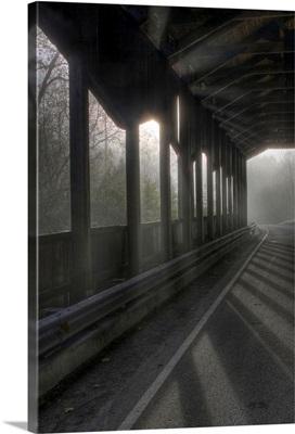 Corwin Nixon covered bridge in Corwin Ohio