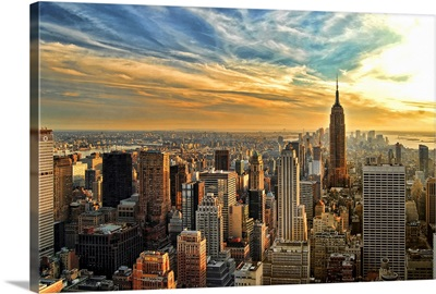Empire State Building in the Evening, Manhattan, New York City
