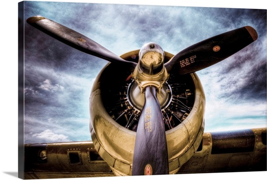 Propellor Blades On An Old Aircraft Wall Art Canvas