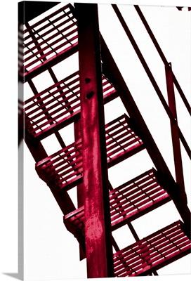 Red fire escape I