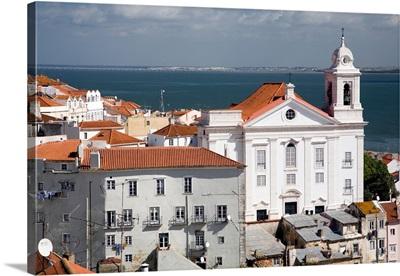 Santo Estevao church from Santa Luzia viewpoint, Lisbon