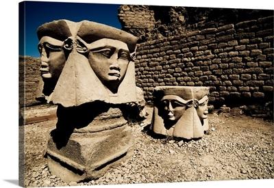 Statues of the Egyptian Goddess Hathor