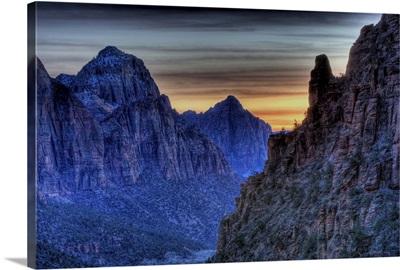 Sunset from Angel's Landing in Zion National Park, Utah