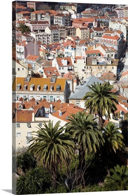 View of Lisbon from Grana viewpoint or miradouro da Grana
