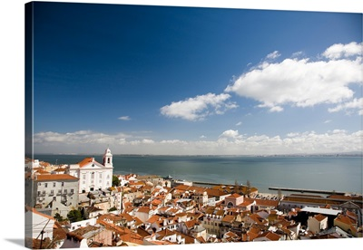 View of Lisbon from Santa Luzia viewpoint