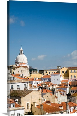 View of Lisbon with the dome of Santa Engracia church on the top