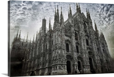 View on Milan Cathedral, the cathedral church of Milan, Italy