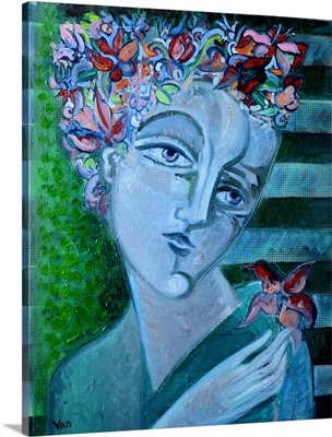 The Girl With Flower