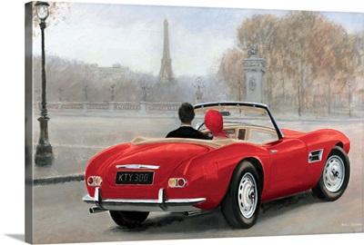 A Ride in Paris III Red Car