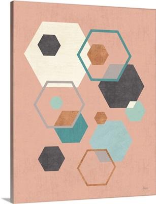 Abstract Geo III Pink