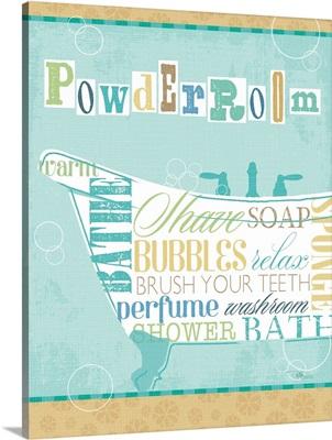 Bathroom Words Tub I