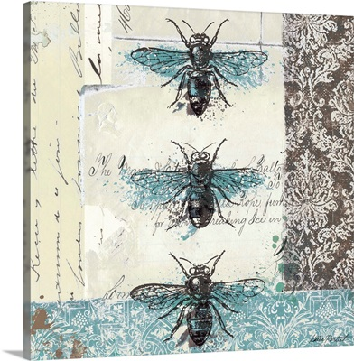 Bees n Butterflies No. I - Blue