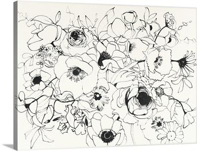 Black Line Poppies Mix
