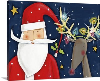 Bright Christmas Santa Blue
