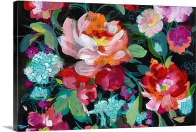 Bright Floral Medley Crop