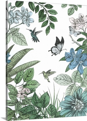 Butterflies And Flowers I
