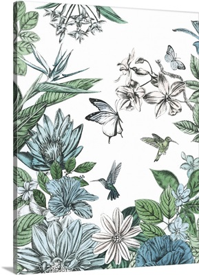 Butterflies And Flowers II
