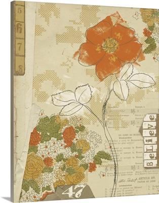Collaged Botanicals I