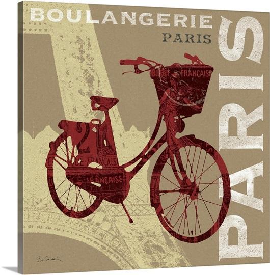 Cycling in Paris Wall Art, Canvas Prints, Framed Prints, Wall Peels ...