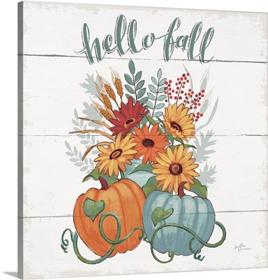 Fall Fun II - Gray and Blue Pumpkin