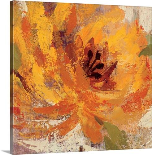 Fiery Dahlias I Wall Art Canvas Prints Framed Prints Wall Peels Great Big Canvas