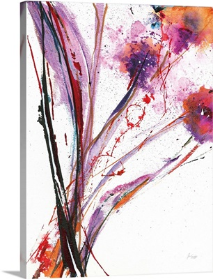Floral Explosion III on White