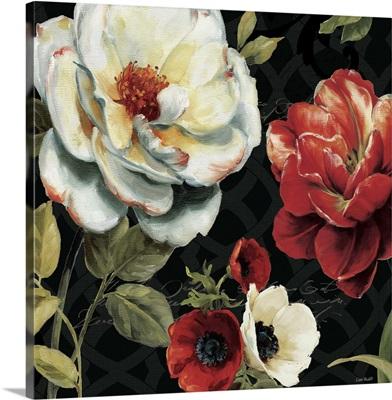 Floral Story IV on Black