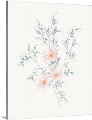 Flowers on White II Contemporary