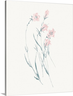 Flowers on White V Contemporary