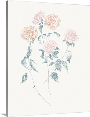 Flowers on White VI Contemporary