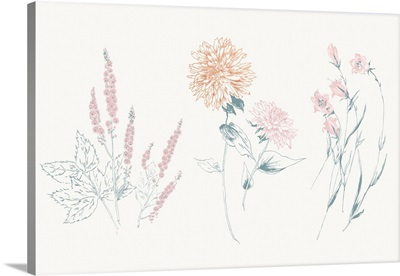 Flowers on White VIII Contemporary