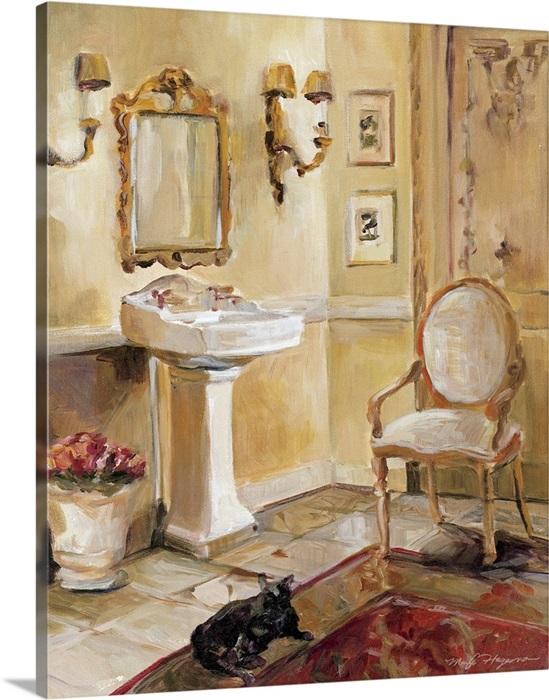 French Bath Ii Wall Art Canvas Prints Framed Prints Wall Peels Great Big Canvas
