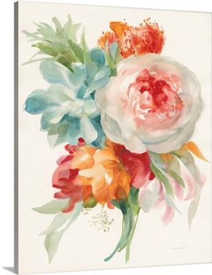 Garden Bouquet I Orange Red