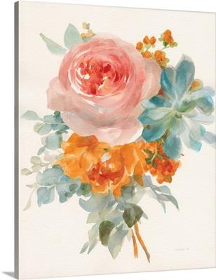 Garden Bouquet II Orange Red